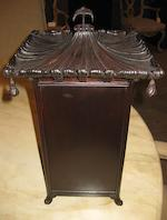 A pair of chinoiserie ebonized wood and glass pagoda form table cabinets <BR />customized by Sister Parish<BR />second half 20th century