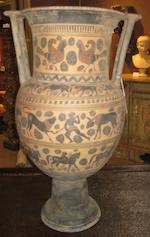 An impressive Grand Tour black figure column krater  19th/20th century