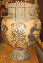 A large Grand Tour black figure column krater  19th/20th century