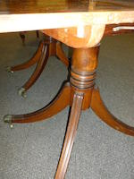 A good George III mahogany three pedestal dining table<BR />late 18th/early 19th century