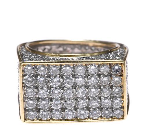 A diamond pavé-set ring