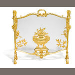 A French gilt bronze fire screen