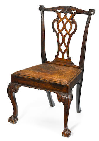 A good quality George III carved rosewood side chair <BR />probably Colonial<BR />fourth quarter 18th century