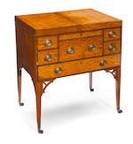 A George III rosewood inlaid satinwood gentleman's dressing chest  fourth quarter 18th century