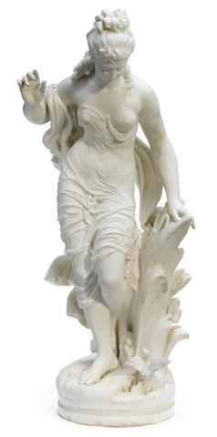 An Italian carved marble figure  <BR />Biggi Fausto<BR />19th century