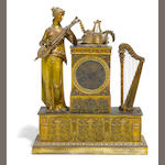 An Empire gilt bronze mantel clock  <BR />first quarter 19th century
