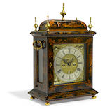 A good William and Mary lacquered bracket clock  James Boyce, London circa 1695