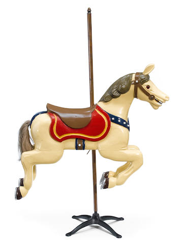 An American painted childs carousel horse, 20th century