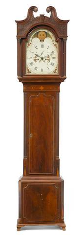 A George III mahogany inlaid tall case clock<BR />fourth quarter 18th century