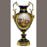 A Sèvres style gilt bronze mounted urn <BR />first half 20th century