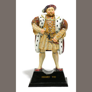 A Doulton Burslem limited edition figure of Henry VIII (HN1792) . designed by Charles Noke. date code for 1934