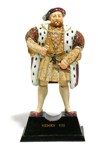 A Doulton Burslem limited edition figure of Henry VIII (HN1792) <BR />designed by Charles Noke<BR />date code for 1934