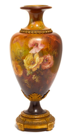 A Lenox porcelain gilt bronze mounted vase  retailed by Tiffany & Co. early 20th century