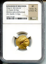 Kings of Macedon, Philip II, Gold Stater, NGC