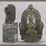 Two Nepalese miniature sculptures