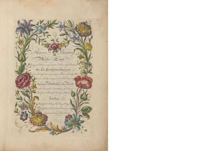 PARKINSON, THOMAS. Flower Painting Made Easy. London: for Robert Sayer, [c.1766].