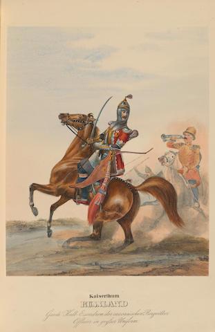 ECKERT, HEINRICH AMBROS. & DIETRICH MONTEN. Das K.K. Russische Militar. Wuerzburg: Christian Weiss, 1840.
