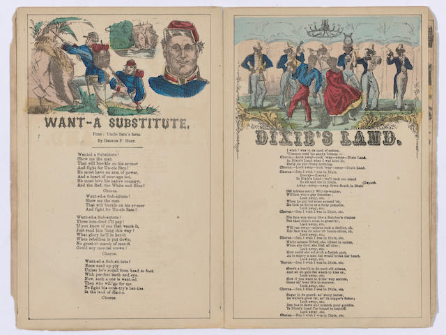 CIVIL WAR—MILITARY & PATRIOTIC SONGS. Six Military and Patriotic Illustrated Songs. New York: Charles Magnus, [1863 or later].
