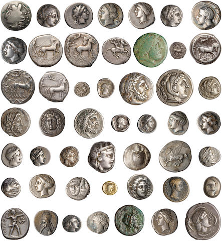 A Collection of Ancient Greek Coins