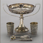 A group of six export silver objects Late Qing/Republic period