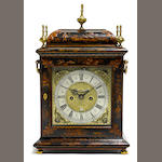 A good William and Mary lacquered bracket clock <BR />James Boyce, London<BR />circa 1695