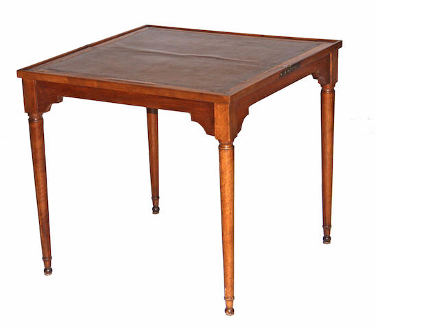 A Louis XVI style walnut games table 20th century