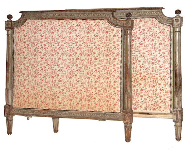 A Louis XVI grey painted bed fourth quarter 18th century