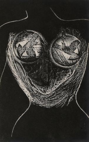 ERNST, MAX. 1891-1976, illustrator. CREVEL, RENE. Mr. Knife, Miss Fork. Paris: Black Sun Press, 1931.
