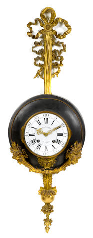 A French gilt and patinated bronze cartel clock  second half 19th century