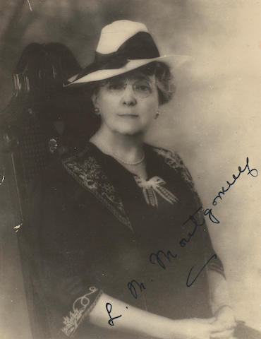 MONTGOMERY, LUCY MAUD. 1874-1942.