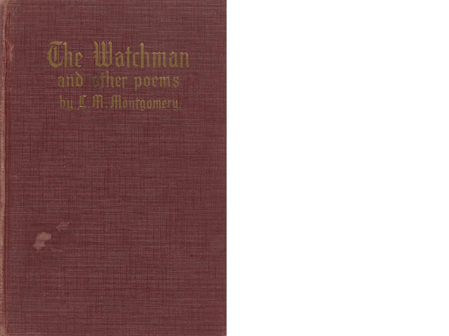 MONTGOMERY, LUCY MAUD. 1874-1942. The Watchman and Other Poems. New York: Frederick A. Stokes, [1916].
