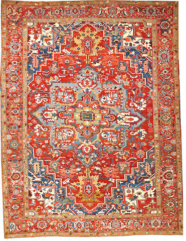 A Serapi carpet  Northwest Persia size approximately 10ft. 3in. x 13ft. 6in.