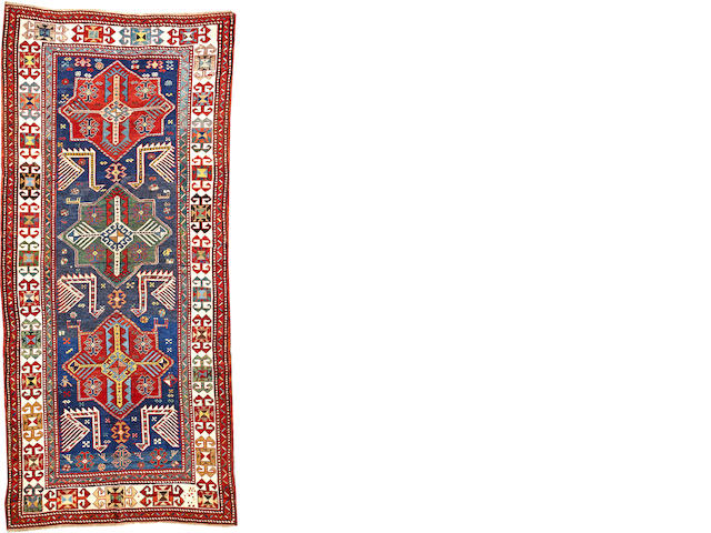 A Kazak rug Caucasus size approximately 4ft. 6in. x 9ft. 9in.