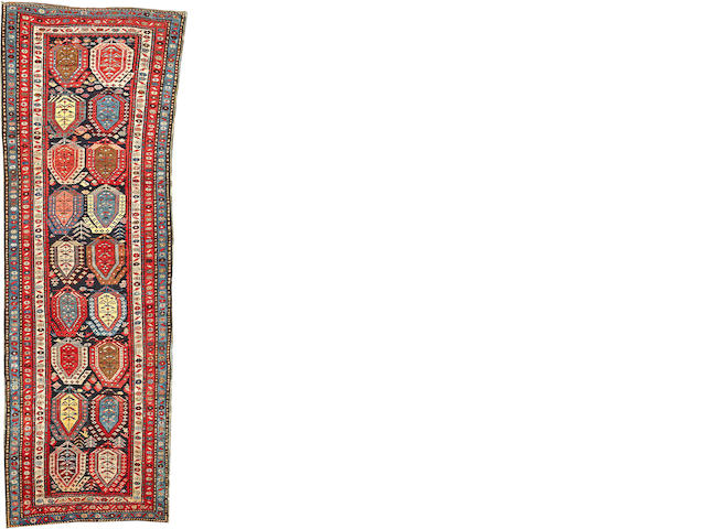 A Shirvan runner  Caucasus size approximately 3ft. 4in. x 10ft. 2in.