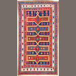 A Kazak rug  Caucasus size approximately 4ft. 7in. x 8ft. 4in.