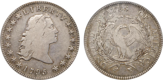 1795 $1 Three Leaves VF20 PCGS