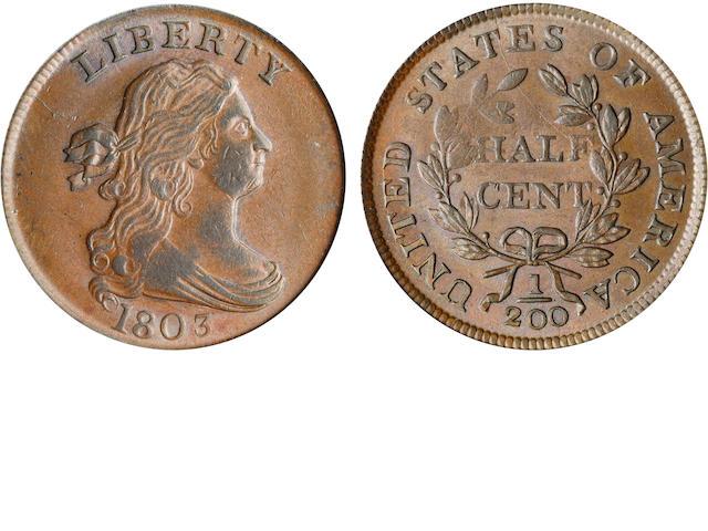 1803 1/2C MS62BN PCGS CAC