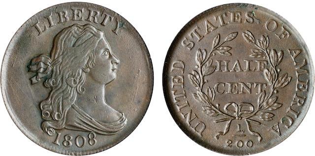 1808 1/2C AU58 PCGS