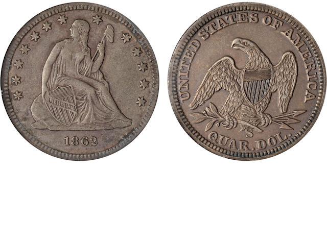 1862-S 25C XF45 PCGS