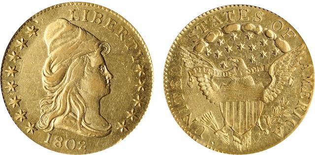 1802/'1' G$2.5 AU55 PCGS