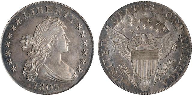 1803 $1 Large 3 AU58 PCGS