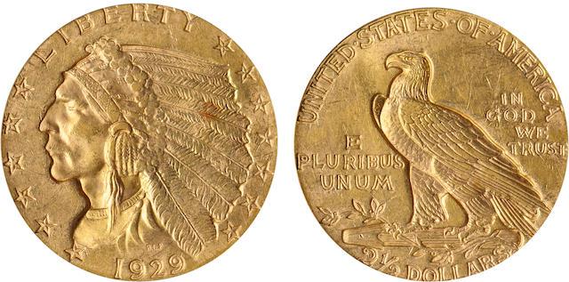 1929 $2.5 MS62+ PCGS
