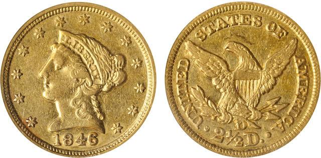 1846-D $2.5 XF45 PCGS