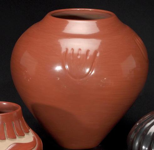 A Santa Clara redware jar