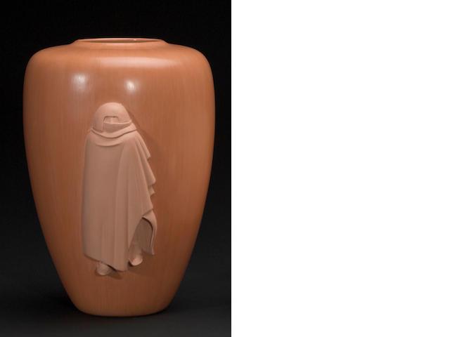 A Hopi orangeware vase
