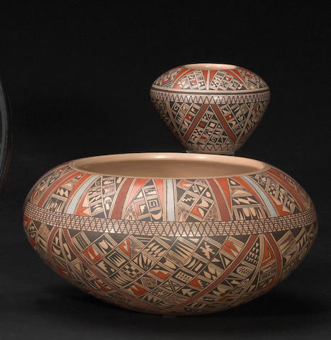 Two Hopi polychrome vessels