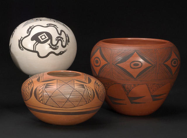 Three Pueblo vessels