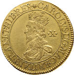 Charles I, 1625-1649, Gold Double Crown by Briot