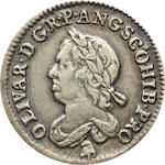 Commonwealth, 1649-1660, Cromwell Dutch Cast Copy Sixpence, 1658