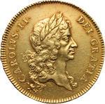 Charles II, 1660-1685, Gold 5 Guineas, 1673
